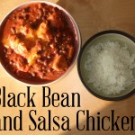 Black Bean and Salsa Chicken on rice
