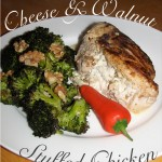 Cheese and Walnut Stuffed Chicken
