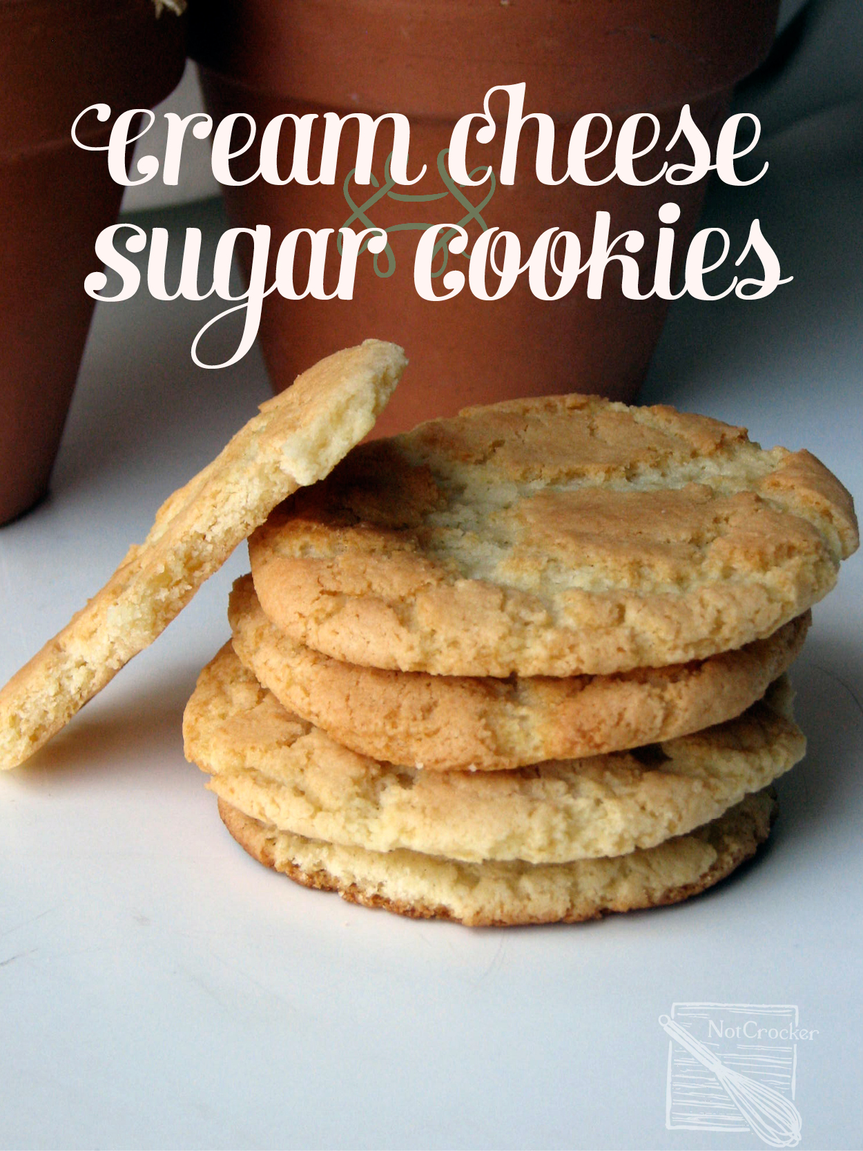 Chewy Rich Cream Cheese Sugar Cookies |