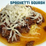 Roasted Tomato and Beef Spaghetti Sauce and Spaghetti Squash