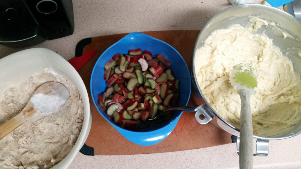My first batch of ingredients. (This crumb did not work, I've included my re-worked version in the recipe)